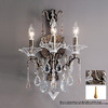 Classic Lighting 13-in W Garden of Versailles 3-Light Antique Bronze Crystal Arm Wall Sconce