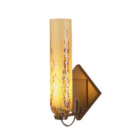 Bruck Lighting Systems Chianti 6.375-in W 1-Light Bronze Arm Hardwired Wall Sconce