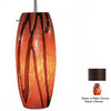 Bruck Lighting Systems 5-1/2-in W Ciro Bronze Art Glass Mini Pendant Light with Tiffany Style Shade