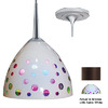 Bruck Lighting Systems 4-1/2-in W Rainbow Bronze Mini Pendant Light with White Shade