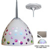 Bruck Lighting Systems 4-1/2-in W Rainbow Matte Chrome Mini Pendant Light with White Shade