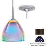 Bruck Lighting Systems 4-1/2-in W Rainbow Bronze Mini Pendant Light with Tiffany Style Shade
