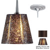Bruck Lighting Systems Bling 4.375-in W Bronze LED Mini Pendant Light with Textured Shade