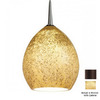 Bruck Lighting Systems 5-1/2-in W Vibe LED Bronze Art Glass Mini Pendant Light with Tiffany Style Shade