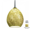 Bruck Lighting Systems 5-1/2-in W Vibe LED Chrome Art Glass Mini Pendant Light with Tiffany Style Shade