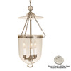 JVI Designs 11-in W Polished Nickel Pendant Light with Clear Shade