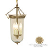 JVI Designs 9-in W Rubbed Brass Mini Pendant Light