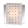 Volume International 12-in W 2-Light Brushed Nickel Arm Wall Sconce