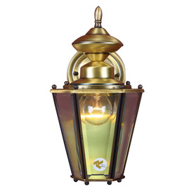 Volume International 13-1/2-in Antique Solid Brass Outdoor Wall Light