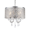 Warehouse of Tiffany Beads 18-in W Chrome Crystal Pendant Light with Crystal Shade