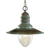 Lustrarte Ancora 11.81-in W Antique Green Pendant Light with Metal Shade