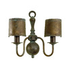Lustrarte Old 11.81-in W 2-Light Antique Green Arm Hardwired Wall Sconce