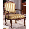 Furniture of America Burnaby Antique Oak Accent Chair