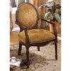 Furniture of America Hamilton Dark Oak Accent Chair