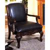 Furniture of America Sheffield Antique Dark Cherry Accent Chair