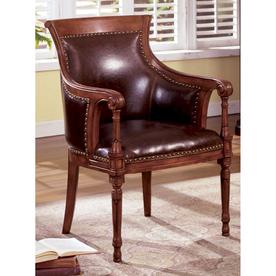 Furniture of America Kirklees Antique Oak Accent Chair