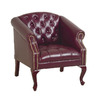 Office Star WorkSmart Mahogany Accent Chair