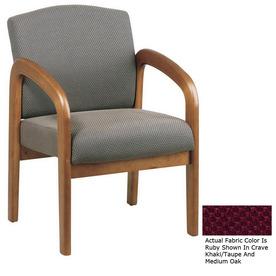 Office Star WorkSmart Medium Oak Accent Chair