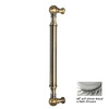 Allied Brass 8-in Center-to-Center Satin Chrome Bar Cabinet Pull