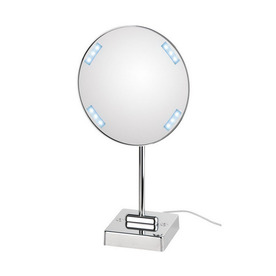 ... Pure III Chrome Chrome Magnifying Countertop Vanity Mirror with Light