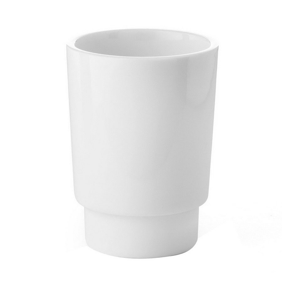 Shop ws bath collections complements white porcelain glass for White bathroom tumbler