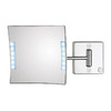 WS Bath Collections Mirror Pure III Chrome Chrome Magnifying Wall-Mounted Vanity Mirror with Light