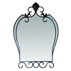 Yosemite Home Decor 36-1/2-in H x 25-in W Iron Shapes Bathroom Mirror