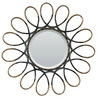 Yosemite Home Decor 41-in H x 41-in W Wrought Iron Round Bathroom Mirror