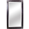 Yosemite Home Decor 78-1/2-in H x 43-1/2-in W Antique Silver Rectangular Bathroom Mirror