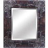Yosemite Home Decor 28-1/2-in H x 24-1/2-in W Antique Silver Rectangular Bathroom Mirror