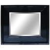 Yosemite Home Decor 30-in H x 26-in W Black Rectangular Bathroom Mirror