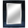Yosemite Home Decor 45-1/2-in H x 34-in W Black Rectangular Bathroom Mirror