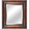 Yosemite Home Decor 31-in H x 27-in W Antique Golden Rectangular Bathroom Mirror