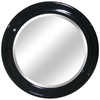 Yosemite Home Decor 35.5-in W x 35.5-in H Black Round Bathroom Mirror