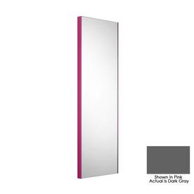 WS Bath Collections 39-3/8-in H x 12-7/8-in W Linea Dark Gray Rectangular Bath Mirror