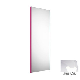 WS Bath Collections 39-3/8-in H x 17-1/2-in W Linea White Rectangular Bath Mirror