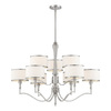 Thomas Lighting 9-Light Gramercy Park Brushed Nickel Chandelier