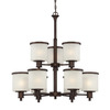Millennium Lighting 9-Light Dalton Rubbed Bronze Chandelier