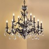 Classic Lighting Majestic 12-Light Aged Bronze Crystal Accent Chandelier