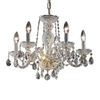 Classic Lighting Monticello 5-Light 24K Gold Plate Crystal Chandelier