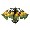 Meyda Tiffany Pond Lily 12-Light Mahogany Bronze Chandelier
