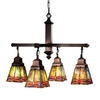 Meyda Tiffany Prairie Dragonfly 4-Light Mahogany Bronze Chandelier