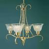 Volume International Versailles 4-Light Polished Solid Brass Chandelier