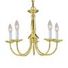 Volume International 5-Light Polished Brass Chandelier