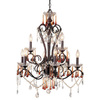 AF Lighting 9-Light Romanza Forged Sable Crystal Accent Chandelier