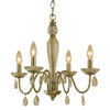 AF Lighting 4-Light Judy Soft Gold Chandelier