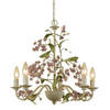 AF Lighting 5-Light Grace Antique Cream Chandelier