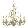 AF Lighting 5-Light Starflower Antique Cream Chandelier