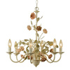 AF Lighting 6-Light Ramblin Rose Antique Cream Chandelier