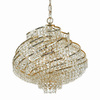 AF Lighting 4-Light Lyric Brass Chandelier